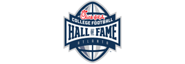 The Chick-Fil-A college football hall of fame logo