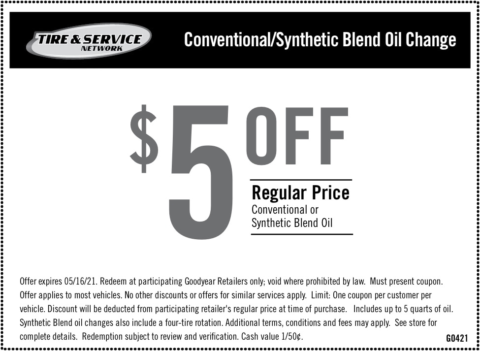 $5 Off Regular Price Conventional or Synthetic Blend Oil | Chimney Rock Car Care