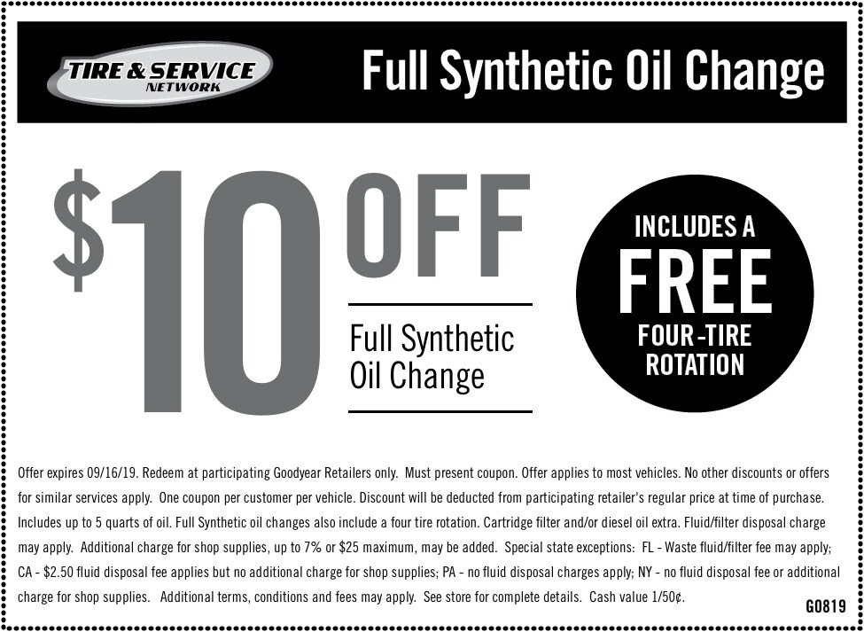 Oil Change, Lube & Filter Service | Goodyear Tires