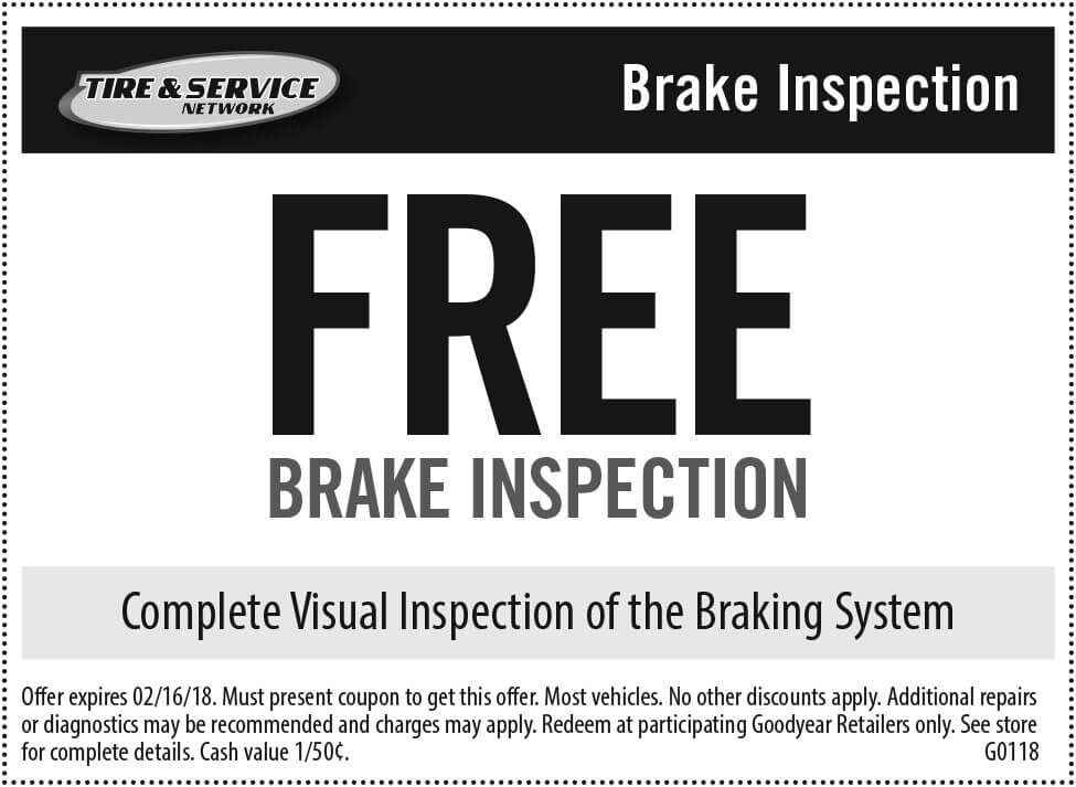 Car inspection discount coupons