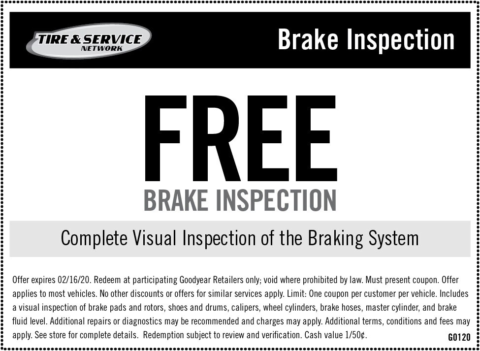 Brake Service Coupons >> Auto Service Maintenance Coupons Goodyear Tires
