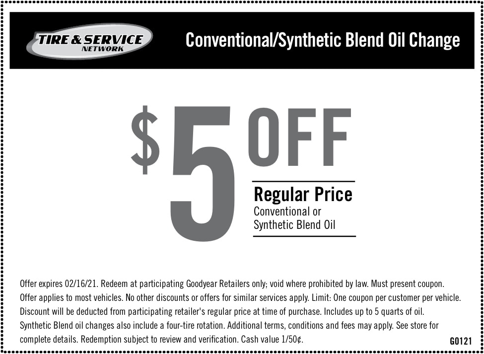 $5 Off Regular Price Conventional or Synthetic Blend Oil   Chimney Rock Car Care