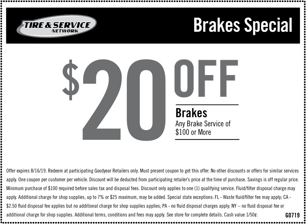 Front End Alignment Coupons >> Auto Service Maintenance Coupons Goodyear Tires
