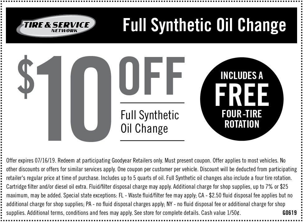 Tire Rotation Coupon >> Auto Service Maintenance Coupons Goodyear Tires