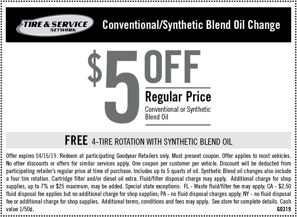 Auto Service Maintenance Coupons Goodyear Tires