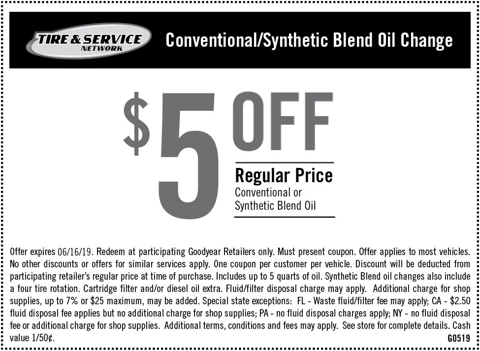 Oil Change Lube Filter Service Goodyear Tires