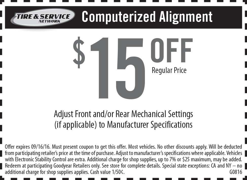 Alignment coupons 2019
