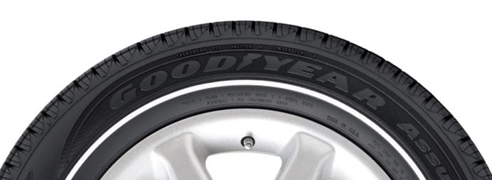 goodyear whitewall tire