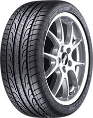 Angled view of the Dunlop SP Sport Maxx® 050 DSST® CTT(TM) tire