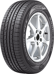 Angled view of the Goodyear Assurance® ComforTred® Touring tire