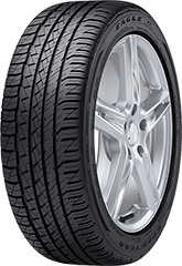 Angled view of the Goodyear Eagle® F1 Asymmetric All-Season SoundComfort Technology® tire