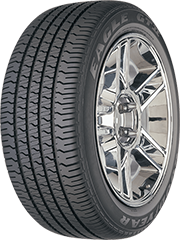 Angled view of the Goodyear Eagle GT® II tire