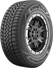 Angled view of the Goodyear WinterCommand® (Light Truck) tire