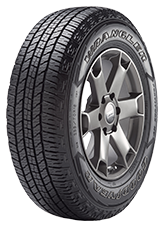 Angled view of the Goodyear Wrangler Fortitude HT™ tire