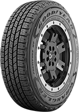 Angled view of the Goodyear Wrangler Fortitude HT® C-Type tire