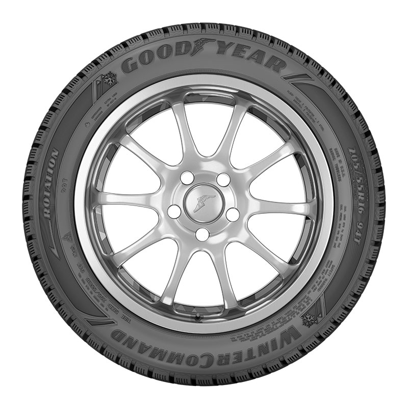 Sidewall view of the Goodyear WinterCommand™ tire designed for harsh winter weather