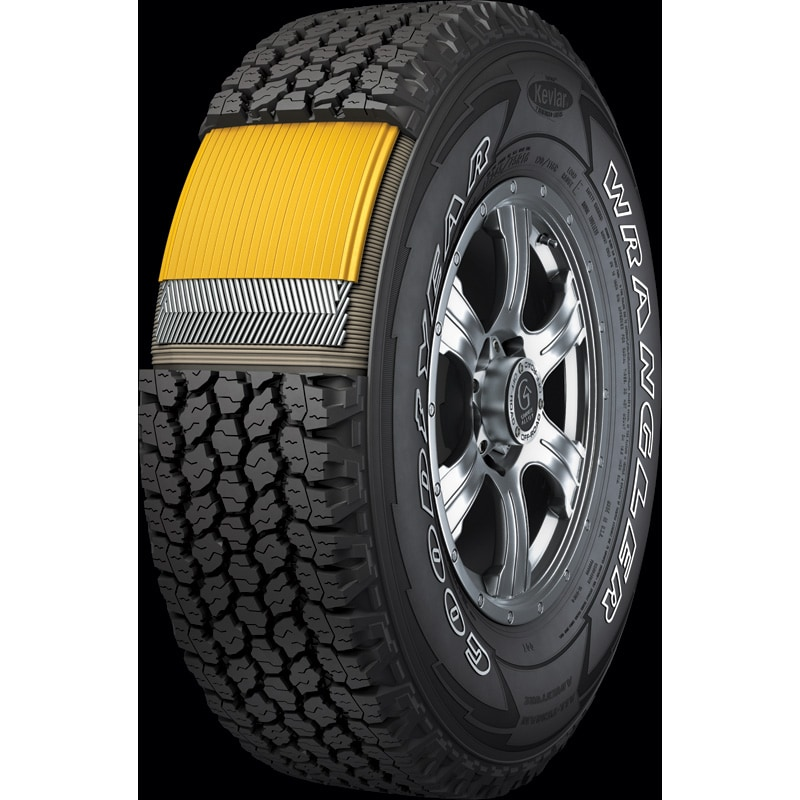 wrangler all terrain adventure with kevlar tires goodyear tires