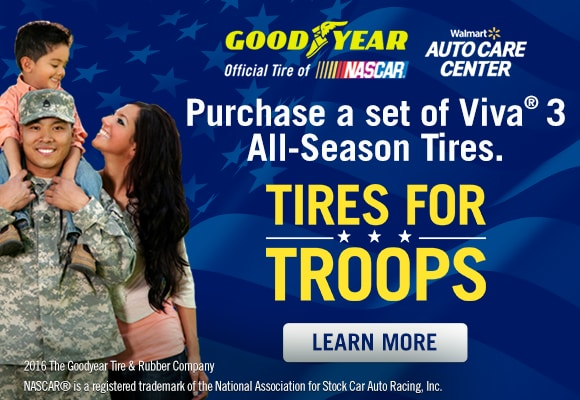 Goodyear - Walmart - Tires for Troops
